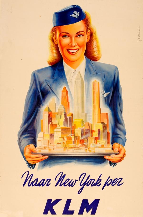 original vintage poster new york takeoff