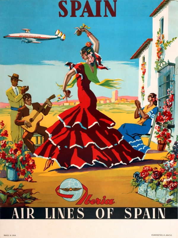 Original Vintage Posters Gt Travel Posters Gt Spain Iberia