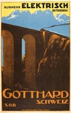 Hotel Kurhaus Wassen an der Gotthardlinie Switzerland Vintage Travel Art Poster