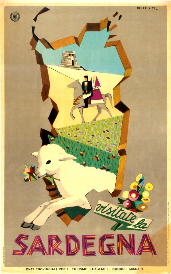 Original Vintage Posters Travel Posters Visit Sardinia ENIT