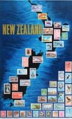 New Zealand Stamps Map