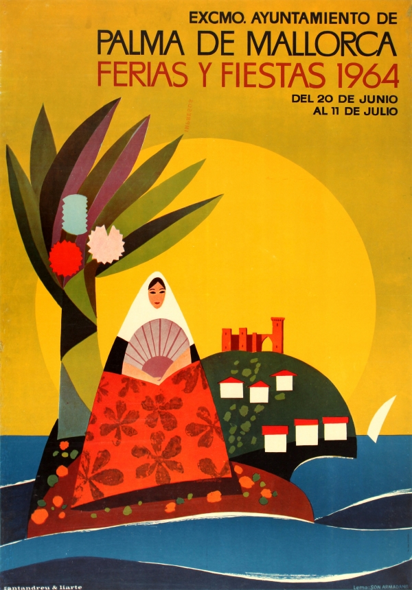 Original Vintage Posters > Travel Posters > Palma de  -> Vintage Möbel Palma De Mallorca