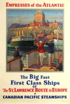 Empresses of the Atlantic Canadian Pacific Steamships Art Deco