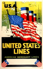 USA United States Lines American Merchant Shipping
