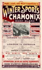 Winter Sports Chamonix Mont Blanc Skiing PLM Railway Art Nouveau