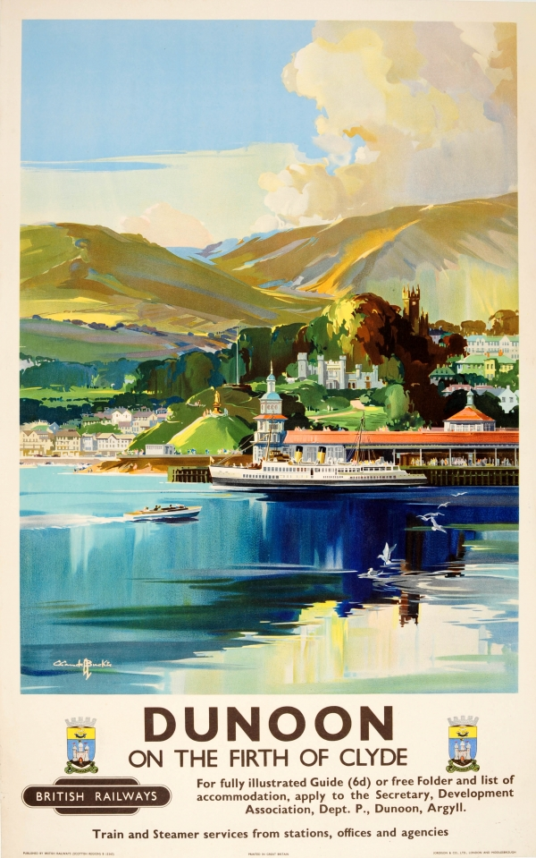Original Vintage Posters -> Travel Posters -> Dunoon On ...
