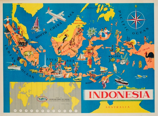 Original Vintage Posters -> Travel Posters -> Indonesia ...