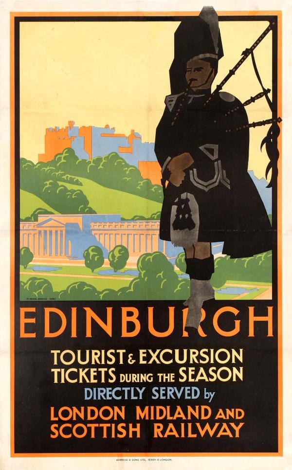 Image result for Edinburgh antique poster