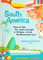 South America Argentina Brazil Moore McCormack Cruise
