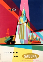 USSR By Sabena Mid-Century Modern