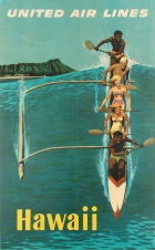 Hawaii Outrigger United Airlines Canoe Surfing