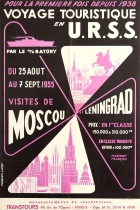 Tourist Trips In USSR Moscow Leningrad