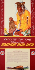 Route of the Streamlined Empire Builder Lazy Boy Blackfeet Reservation Montana