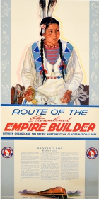 Route of the Streamlined Empire Builder Dancing Boy Blackfeet Reservation Montana
