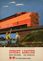 Sunset Limited Southern Pacific Railway New Orleans Los Angeles