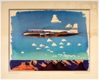 United Airlines Mainliner Over Grand Canyon Ludekens