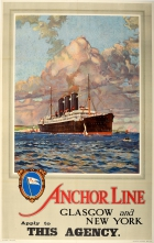 Anchor Line Glasgow New York Scotland America