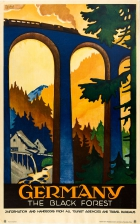 Germany Black Forest Art Deco Steam Train