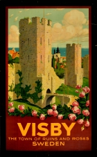 Visby Town Of Ruins And Roses Sweden