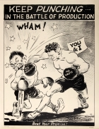 Anti Japan Keep Punching WWII USA Home Front