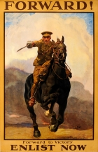 Forward to Victory Enlist Now WWI K Cavalry