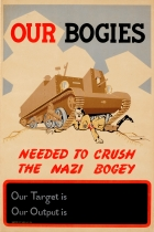 Our Bogies Needed To Crush The Nazi Bogey WWII
