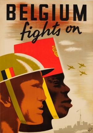 Original Vintage Posters War Posters Belgium Fights