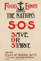 Food Economy National Safety SOS Save Or Starve WWI