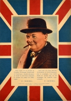 Winston Churchill British Flag WWII