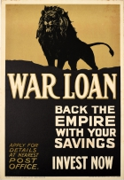 War Loan Back The Empire Post Office Savings Invest Now WWI