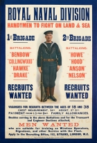 Royal Naval Division Recruits Wanted WWI