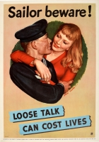 Loose Talk Can Cost Lives Sailor Beware WWII USA