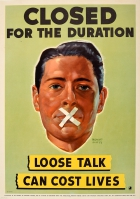 Loose Talk Can Cost Lives Closed WWII USA