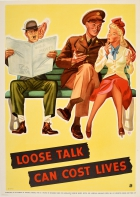 Loose Talk Can Cost Lives Hitler WWII USA