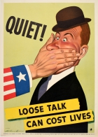 Loose Talk Can Cost Lives Quiet WWII USA